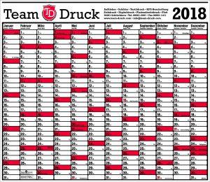 Der Kostenlose Team Druck Kalender 2018 Team Druck Schluchtern Gmbh